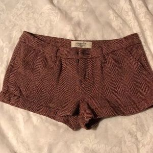 NWOT SHORTS WITH TWEED DESIGN